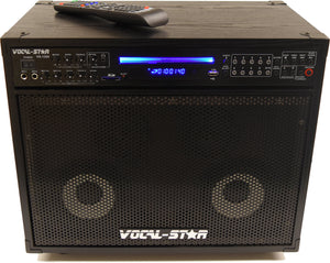 Vocal-Star Thunder All In One Karaoke Machine & Speaker System  including 150 Party Songs & 2 Wired Microphones