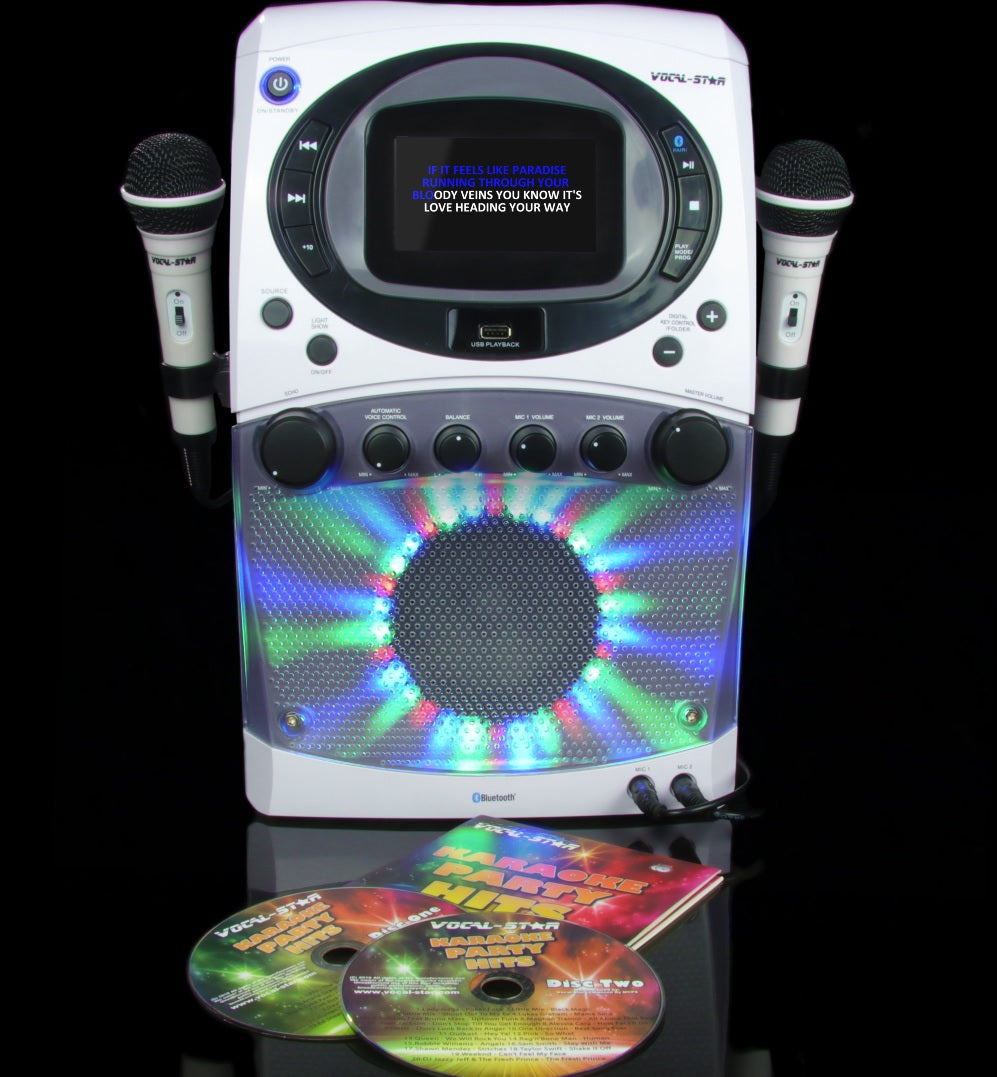 Vocal-Star Portable CDG MP3G Bluetooth Karaoke Machine With 4.3