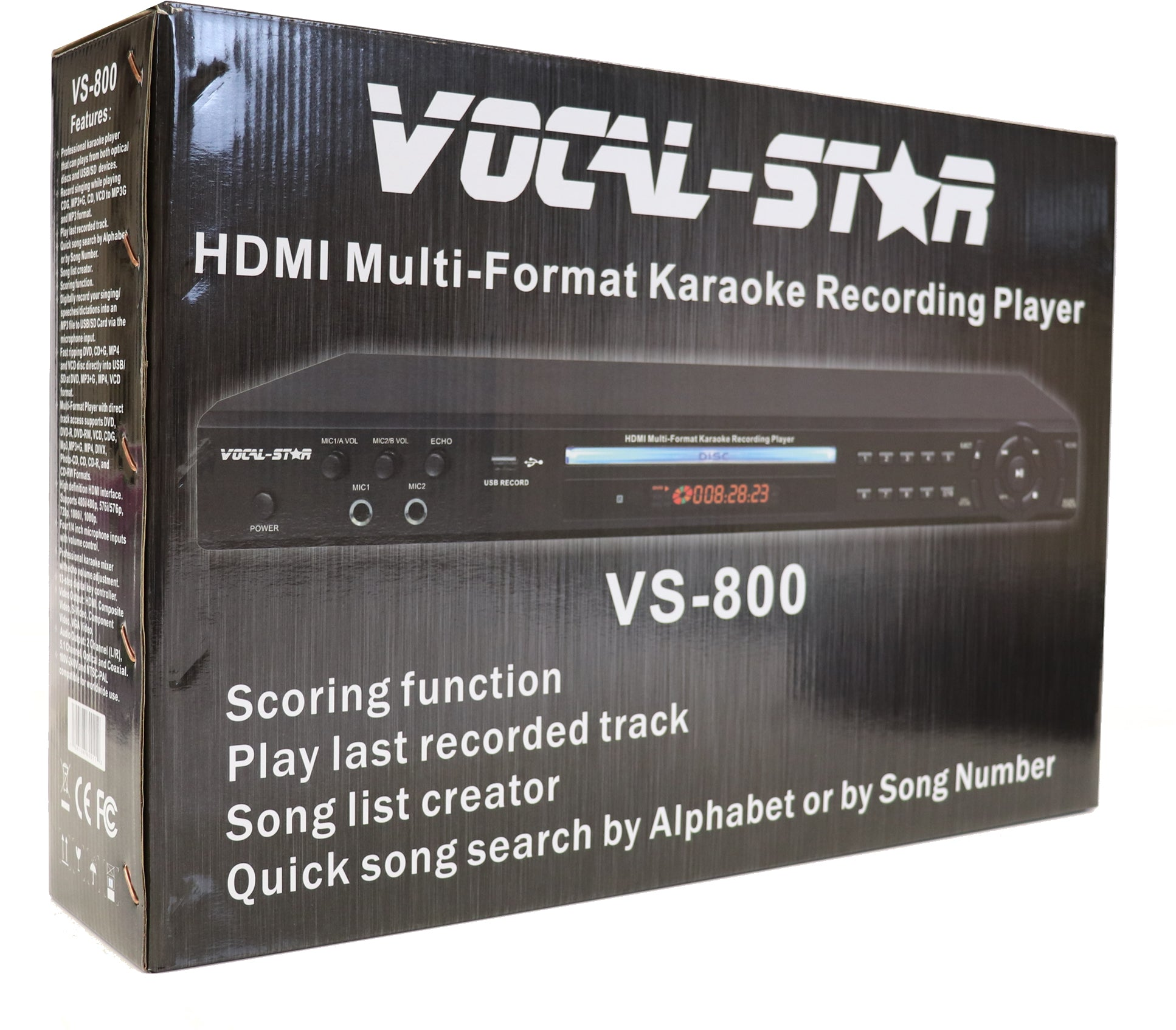 Vocal-Star VS-800 HDMI Pro Karaoke Machine Set, 2 Microphones & 150