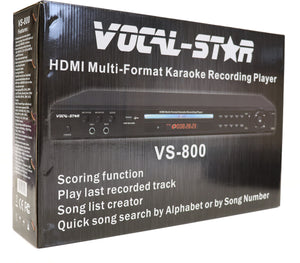 Vocal-Star VS-800 HDMI Pro Karaoke Machine Set, 2 Microphones & 150 Popular Chart Songs