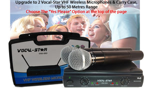 VS-600 Karaoke Machine Set, 2 Microphones & 150 Popular Chart Songs