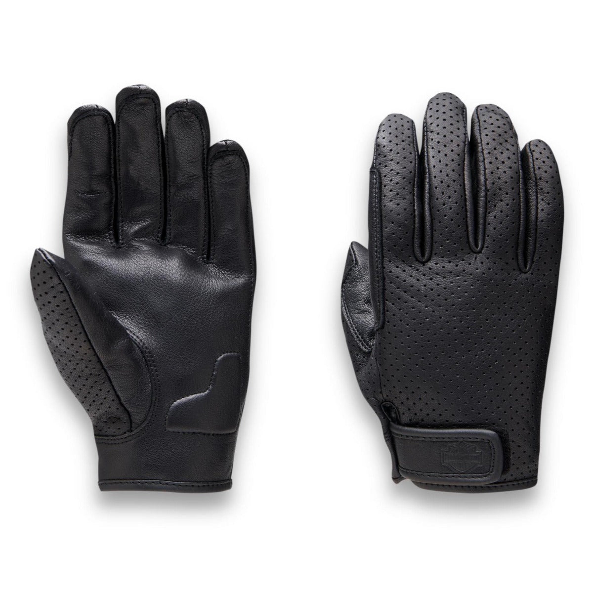 GLOVES-RIDING,LEATHER,BLACK