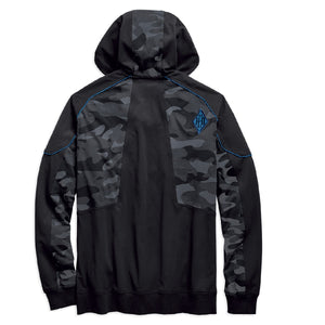 Camo Full-Zip Hoodie Color Blocked