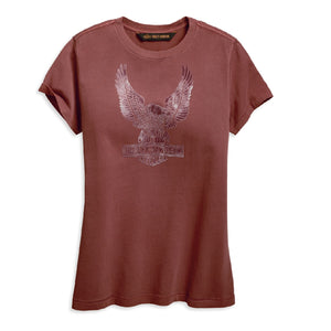 Flocked Eagle Short Sleeve Tee