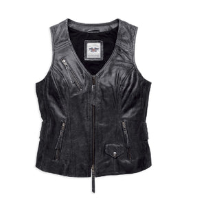 Distressed Dust Rider Leather Vest