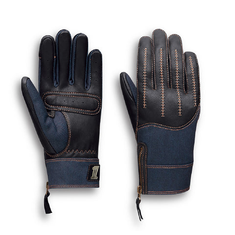 Arterial Leather & Denim Gloves