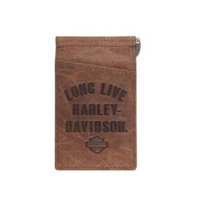 Brown Long Live Clip Wallet