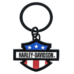 Keychain Harley Red/White/Blue