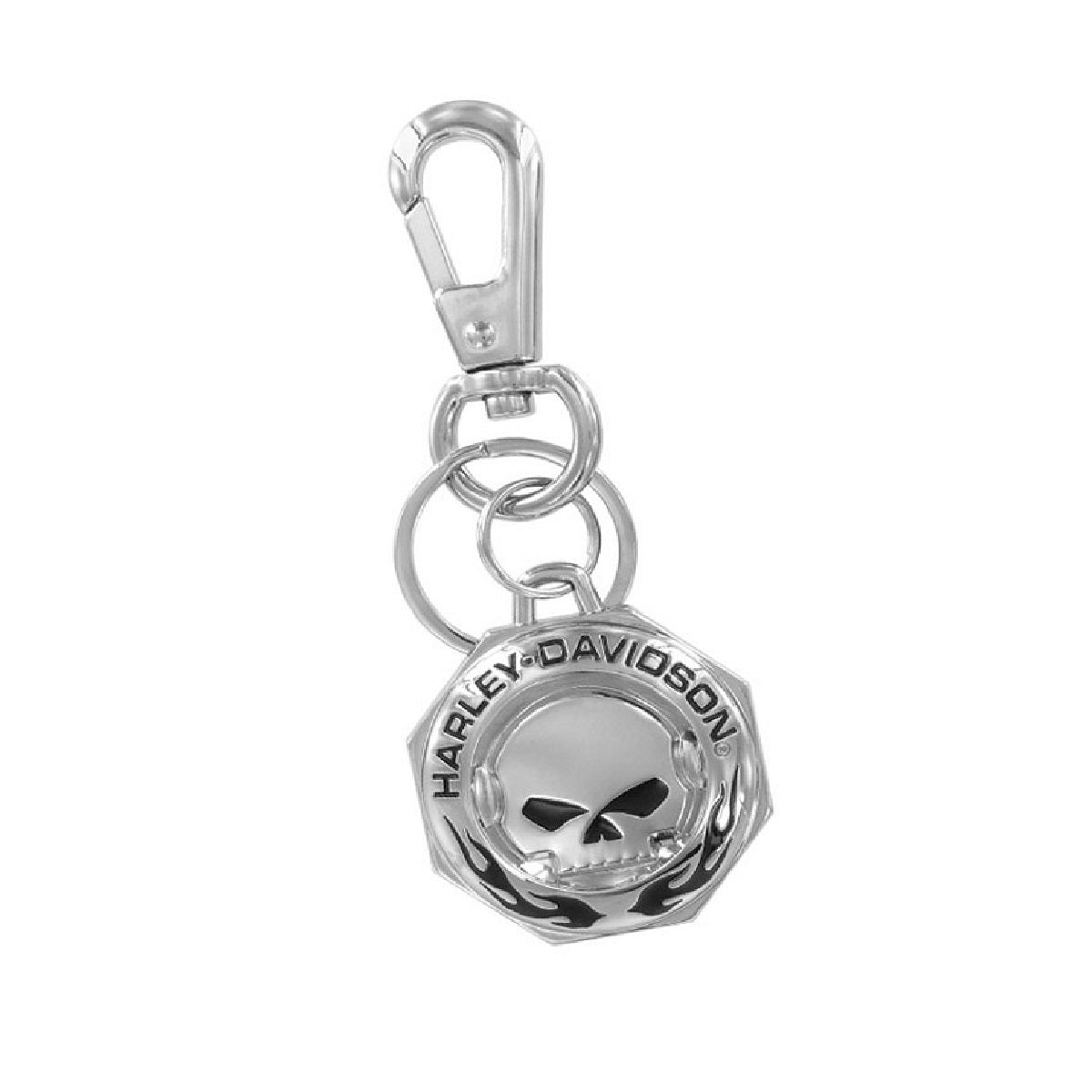 Keychain Chrome WillieG Skull