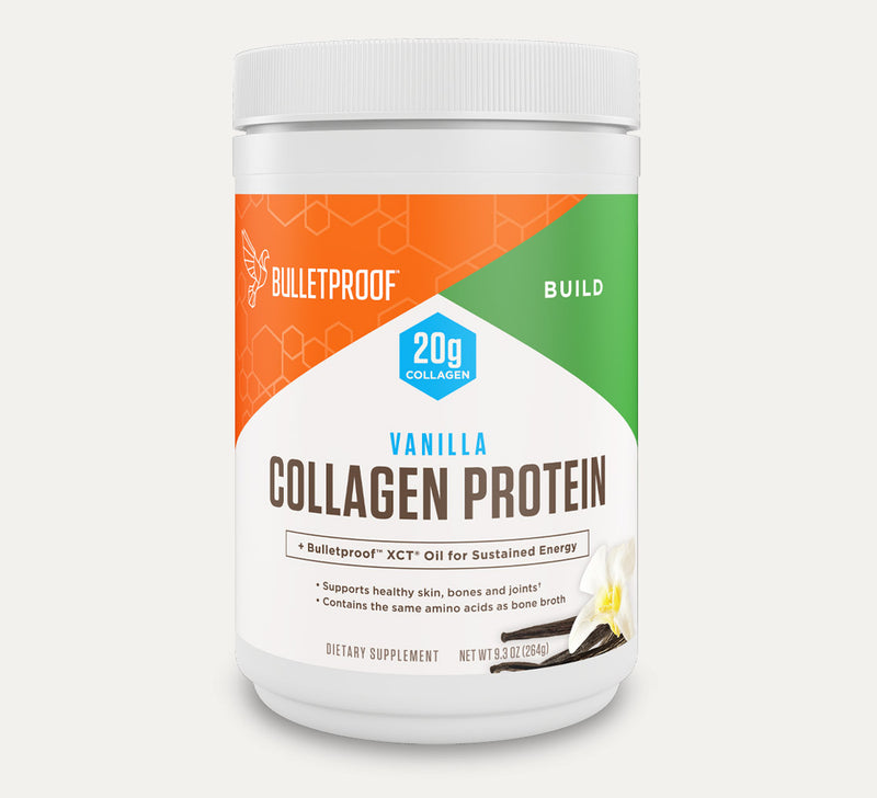 Bulletproof Collagen Protein Vanilla Flavored tub