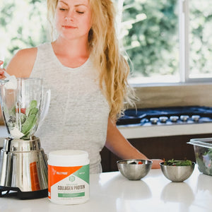 Bulletproof Collagen Protein being added into smoothie