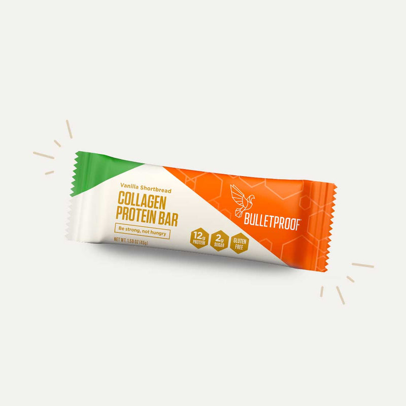 Bulletproof Collagen Protein Bar Vanilla Shortbread packaging
