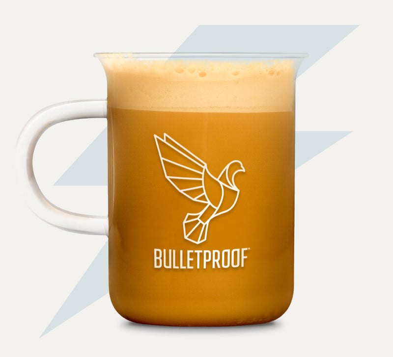 Bulletproof Beaker Mug full of Bulletproof Coffee