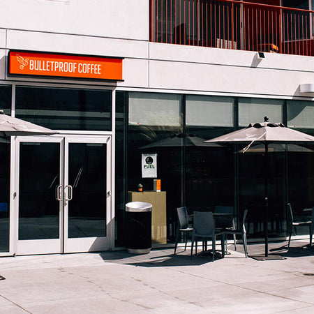 Store front for Los Angeles' Bulletproof Coffee Café