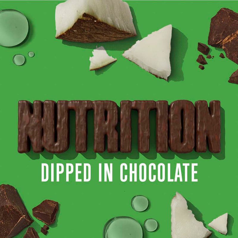 Nutrition outlined in chocolate