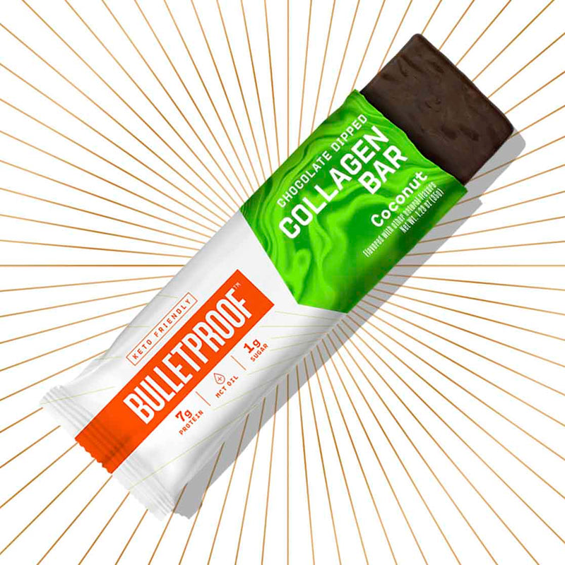 Bulletproof Chocolate Dipped Coconut Collagen Protein Bar