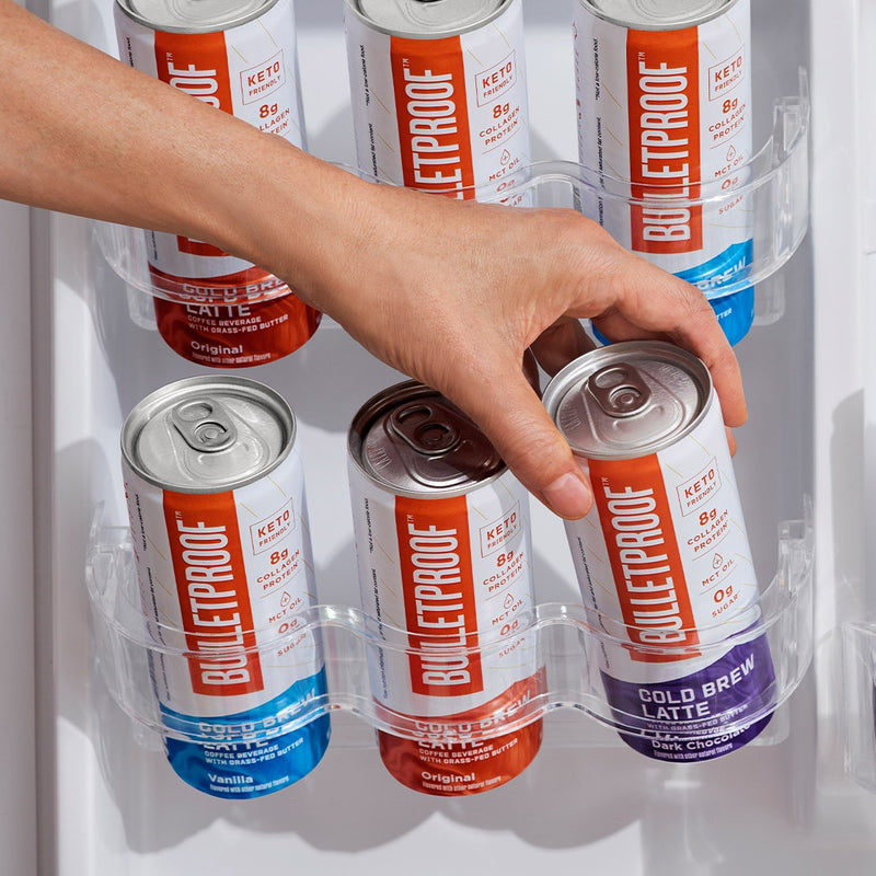 Cold Brew Cans in a Fridge