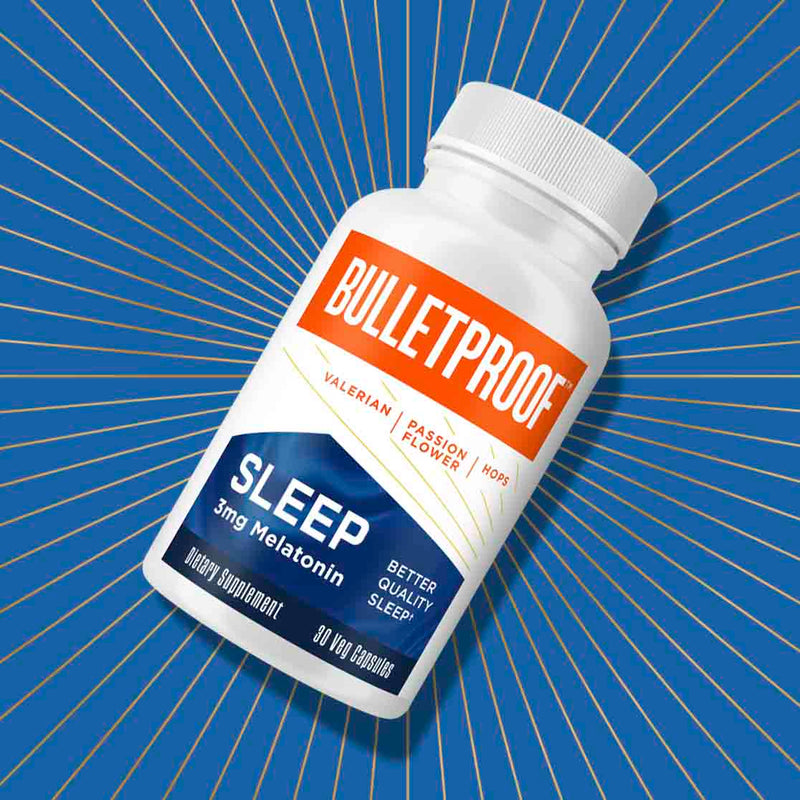 Bulletproof Sleep bottle with golden rays