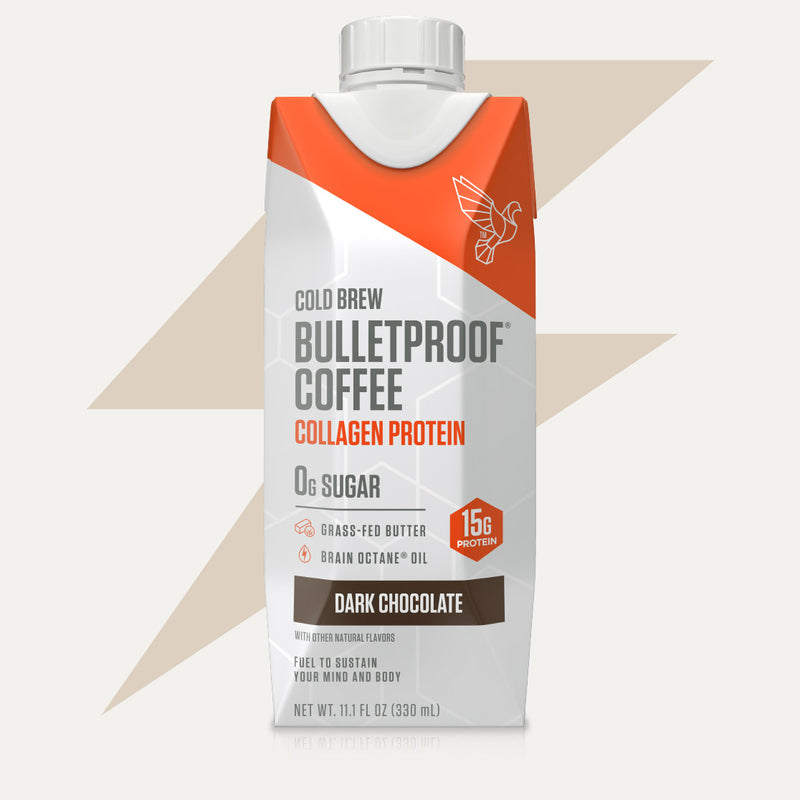 Bulletproof Coffee Cold Brew Dark Chocolate with Collagen Protein bottle
