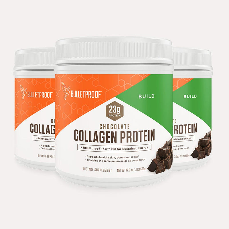 Bulletproof Collagen Protein Chocolate tub