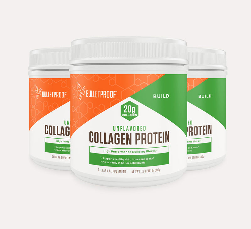 Bulletproof Collagen Protein Unflavored tubs