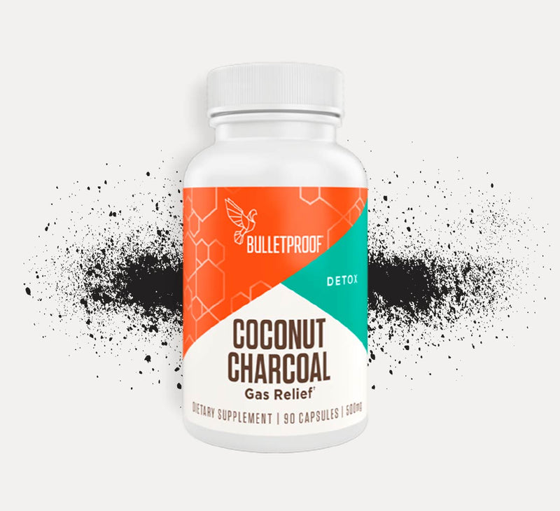 Bulletproof Coconut Charcoal bottle