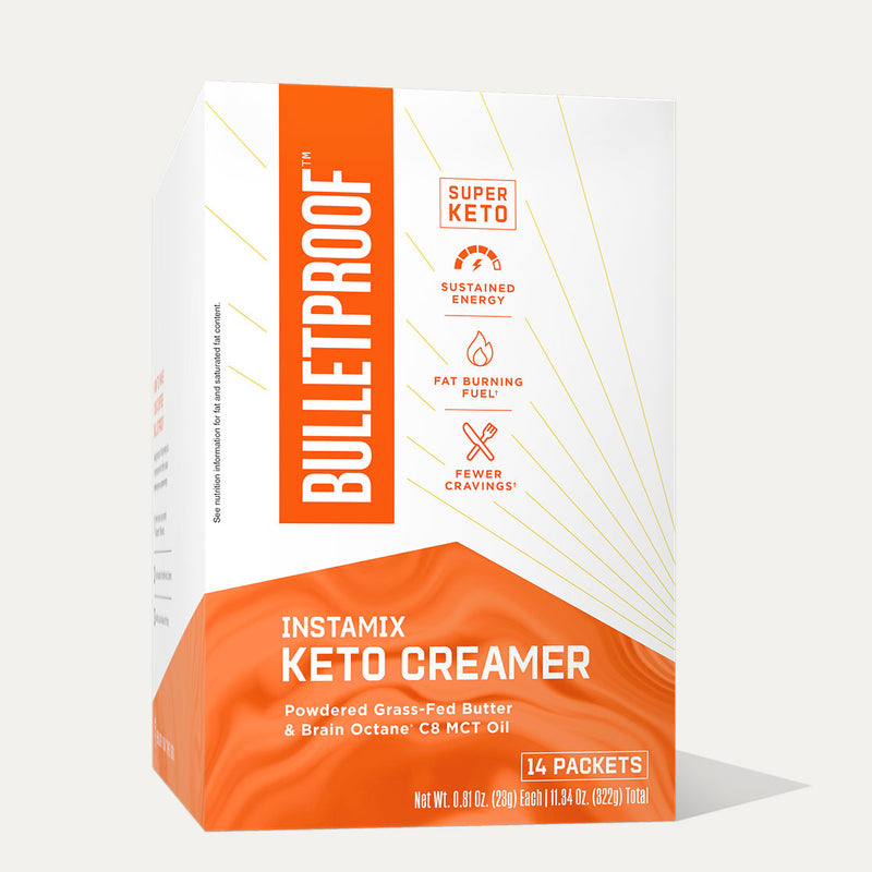 Bulletproof InstaMix Keto Creamer box of 14 packets