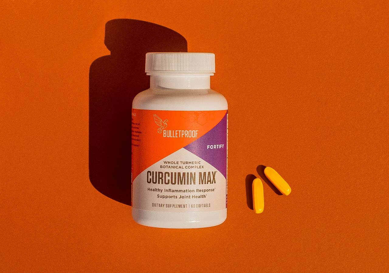 Curcumin Max bottle and capsules