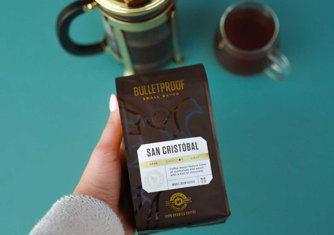 Bulletproof Coffee San Cristobal Small Batch bag