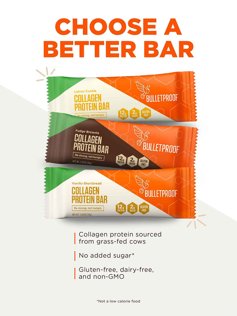 Vanilla Shortbread Collagen Protein Bar (4 Pack)