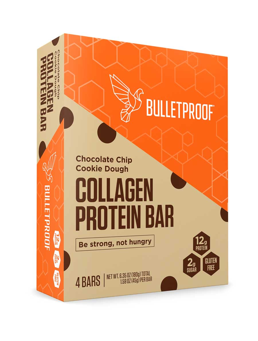 Bulletproof Chocolate Chip Cookie Dough Protein Bar