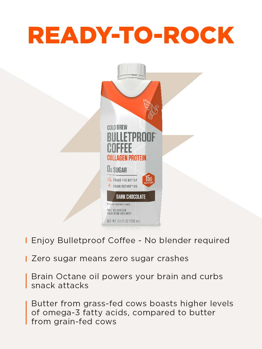 Bulletproof Coffee Cold Brew flavors are convenient and delicious keto snacks