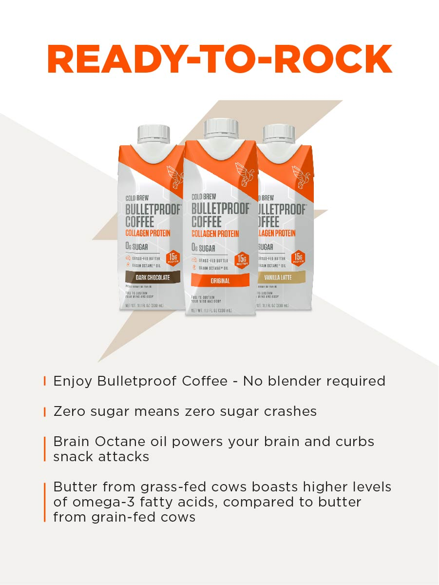 Cold Brew with Collagen peptides is a delicious keto drink with zero sugar