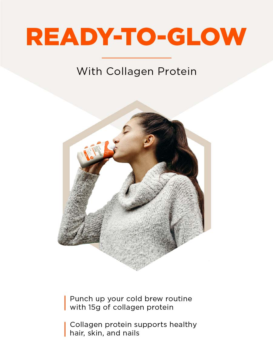 Collagen protein supports glowing skin, flexible joints, and strong bones