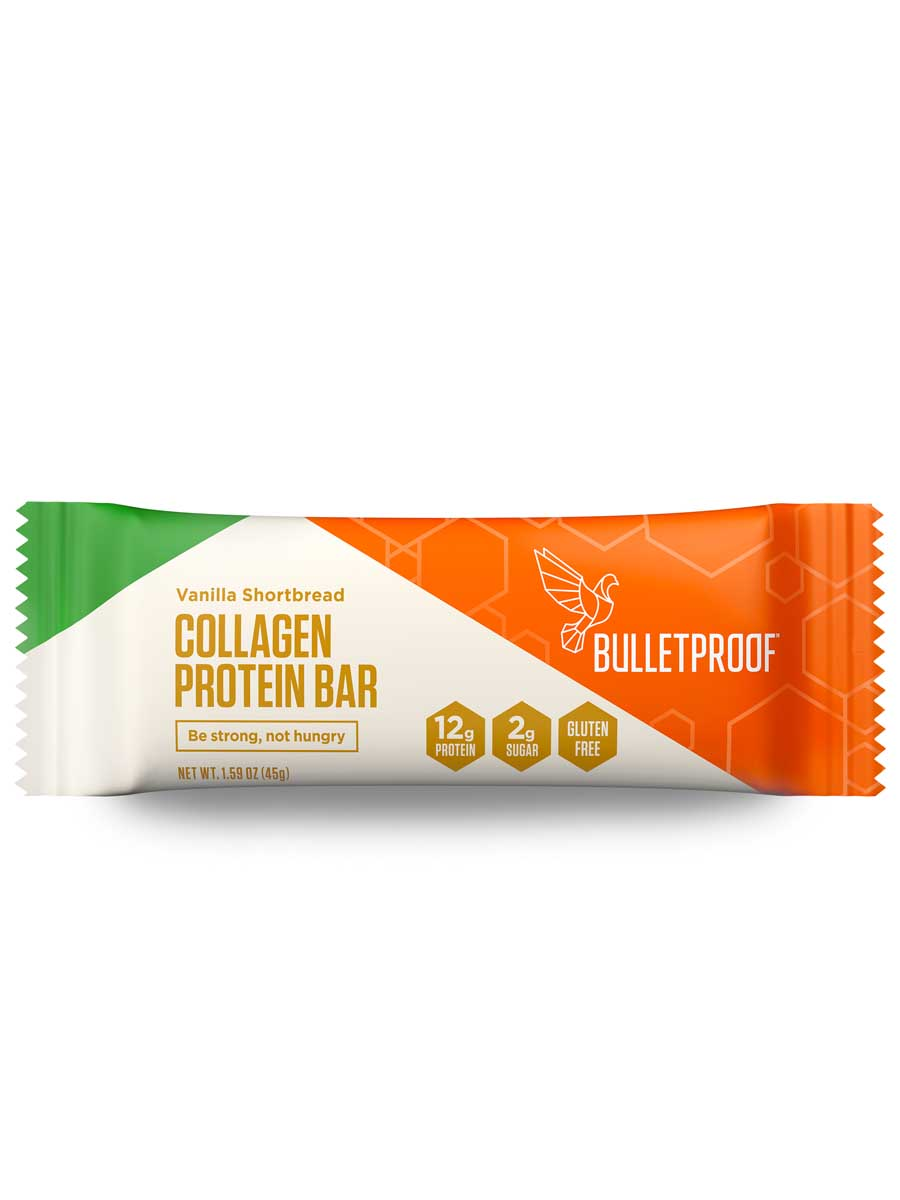 Bulletproof Vanilla Shortbread Collagen Protein Bar
