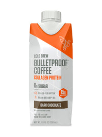 Image: Bottle of Bulletproof Coffee Cold Brew - Dark Chocolate with Collagen