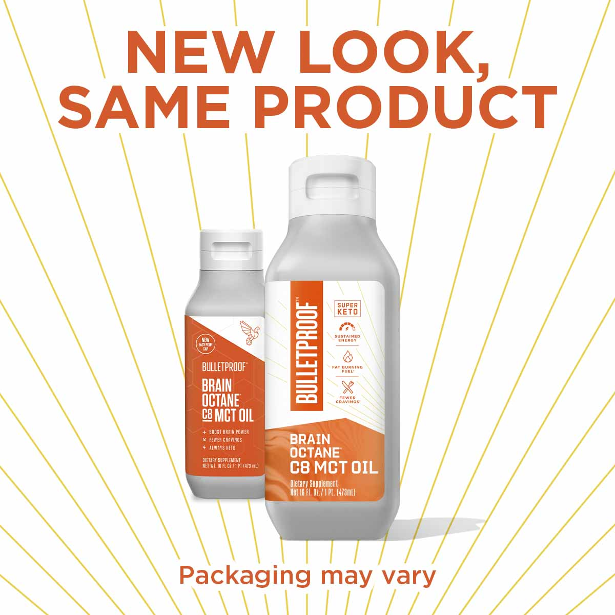 New Look, Same Product Bulletproof Brain Octane Oil 16 oz - 3 pack