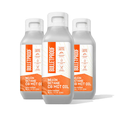 Image: Bulletproof Brain Octane Oil 16 oz - 3 pack