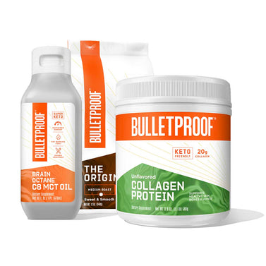 Image: Bulletproof Basics: Ground Coffee, Collagen Protein 17.6oz and Brain Octane Oil 16oz