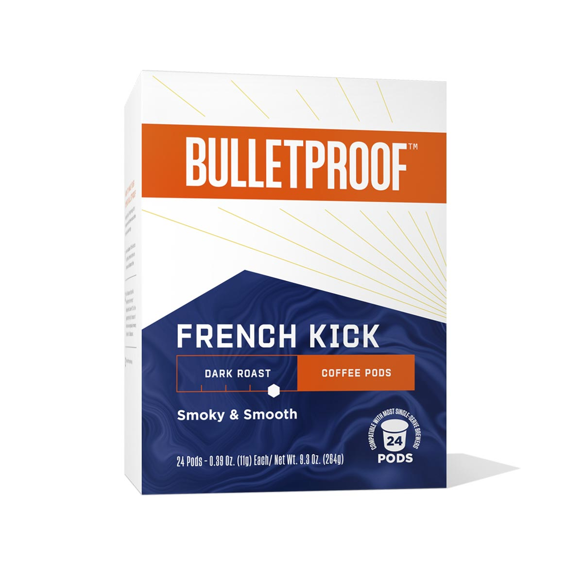 Bulletproof French Kick Dark Roast Coffee Pods – 24ct
