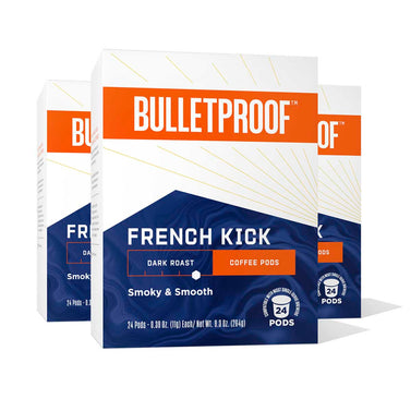 Image: Bulletproof The French Kick Dark Roast Coffee Pods 24ct - 3 Pack ($26.99/box)