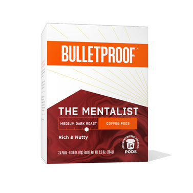 Image: Bulletproof The Mentalist Medium Dark Roast Coffee Pods – 24ct