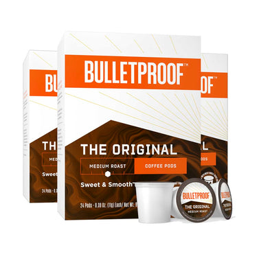 Image: Bulletproof The Original Medium Roast Coffee Pods 24ct - 3 Pack ($26.99/box)
