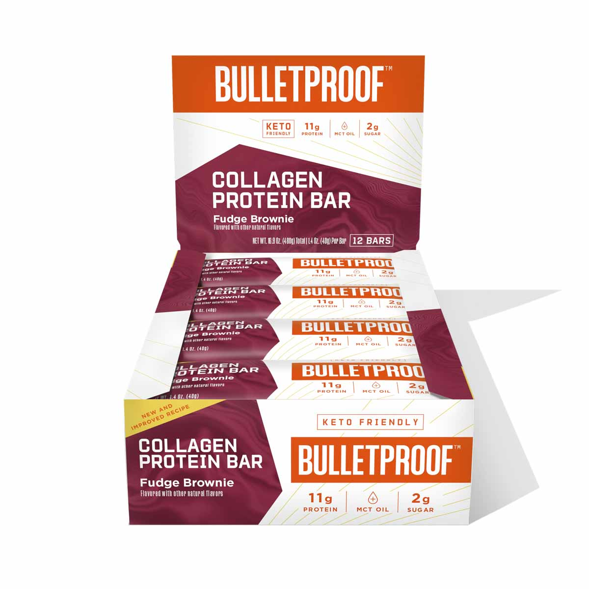 Bulletproof Fudge Brownie Collagen Protein Bar (12 Pack)