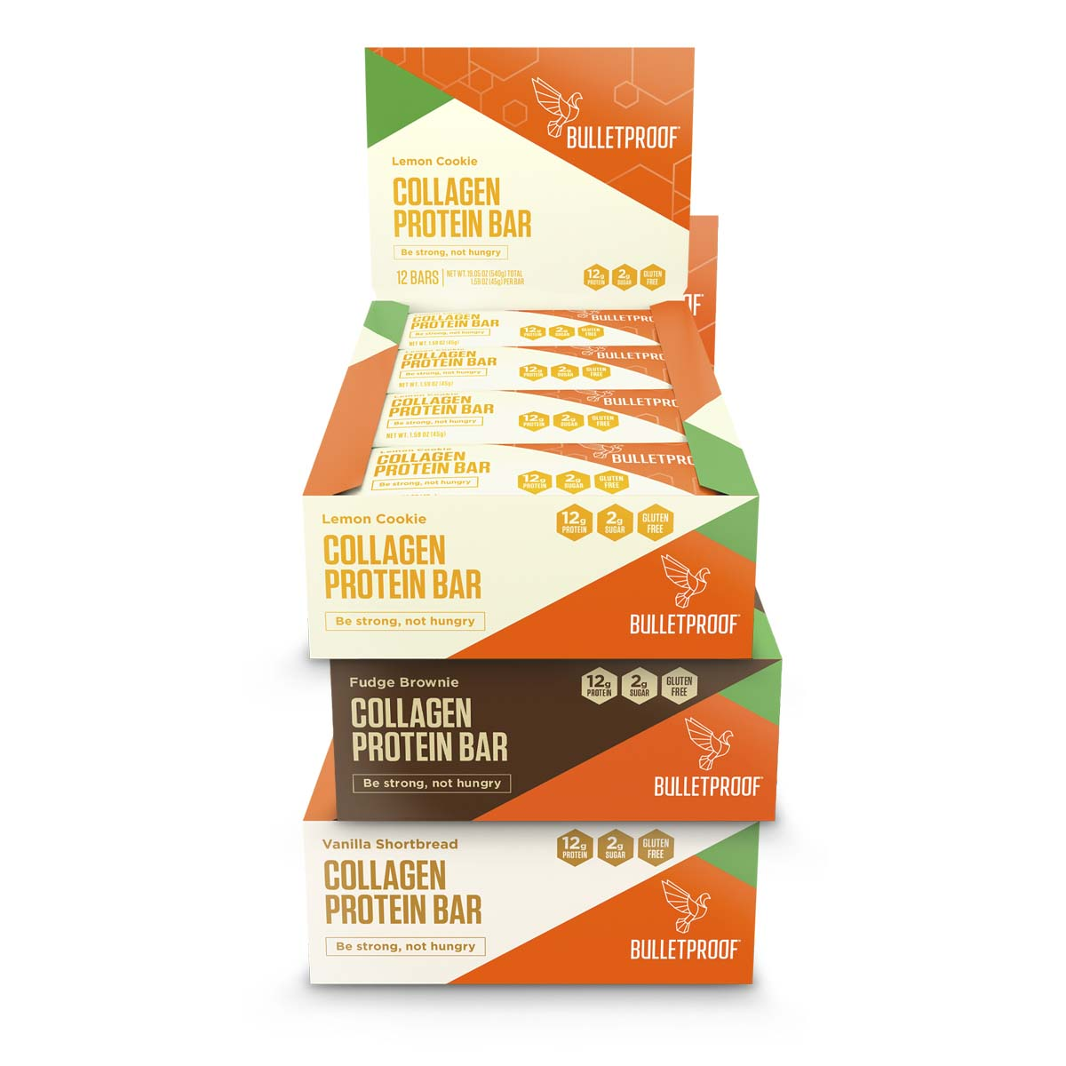 Bulletproof Collagen Protein Bars Bundle (3 boxes of 12 bars)