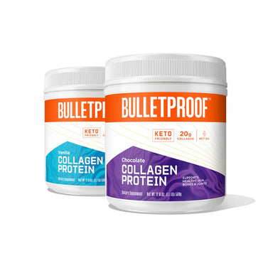 Image: Bulletproof Chocolate and Vanilla Flavored Collagen Protein Bundle