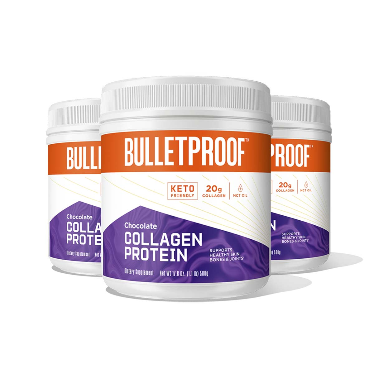Bulletproof Chocolate Flavored Collagen Protein - 3 Pack