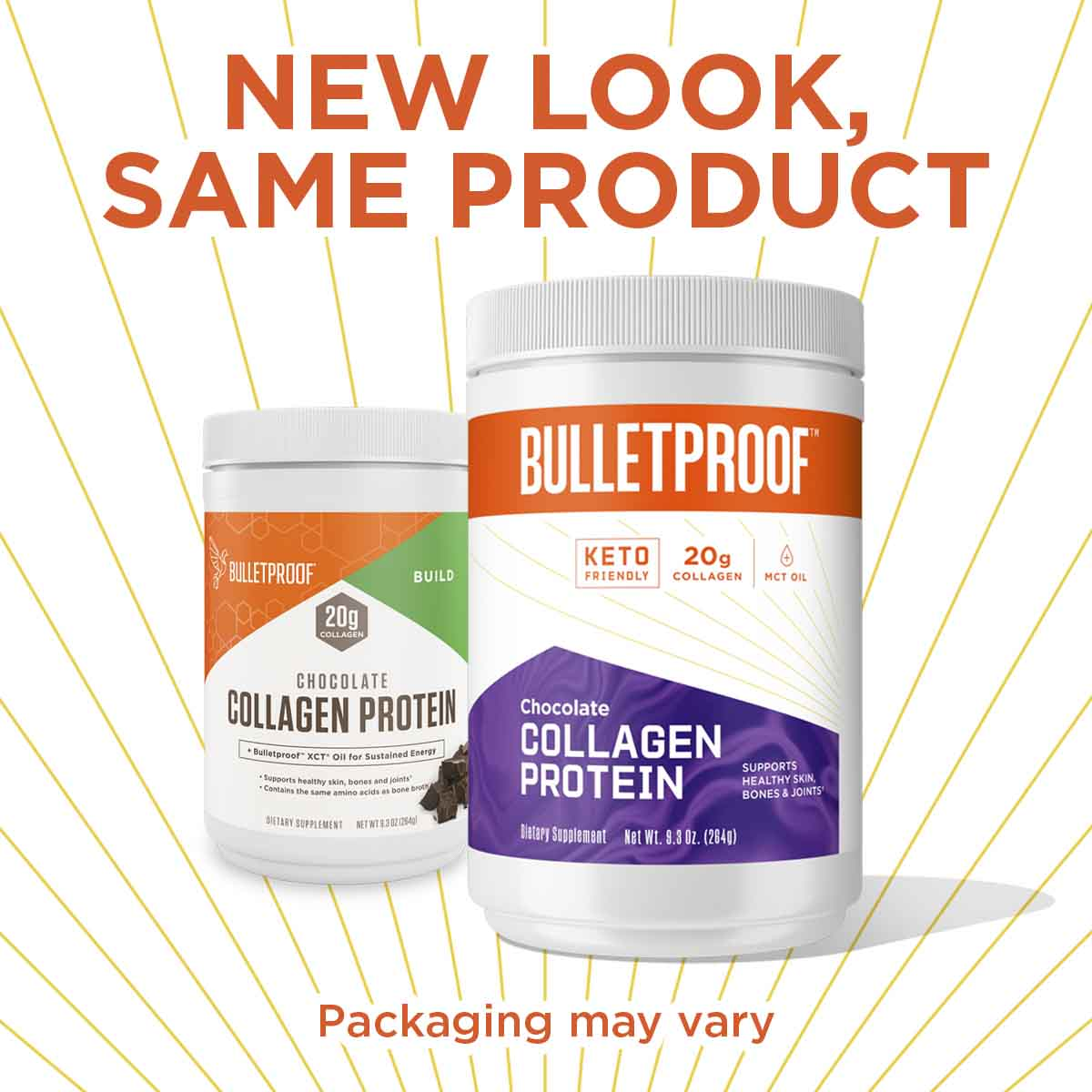 New Look, Same Product Bulletproof Chocolate Flavored Collagen Protein - 9.3 oz