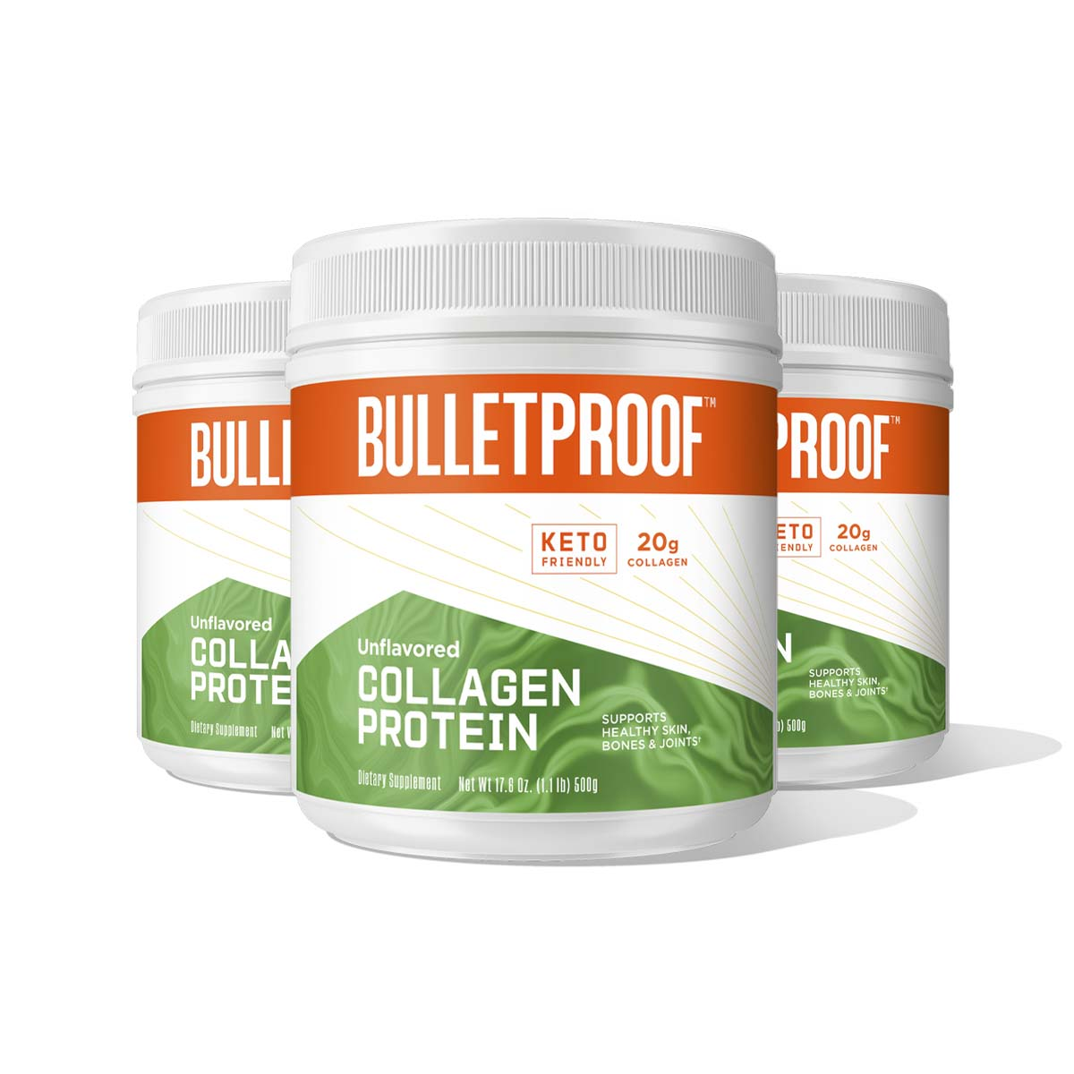 Bulletproof Unflavored Collagen Protein - 3 Pack