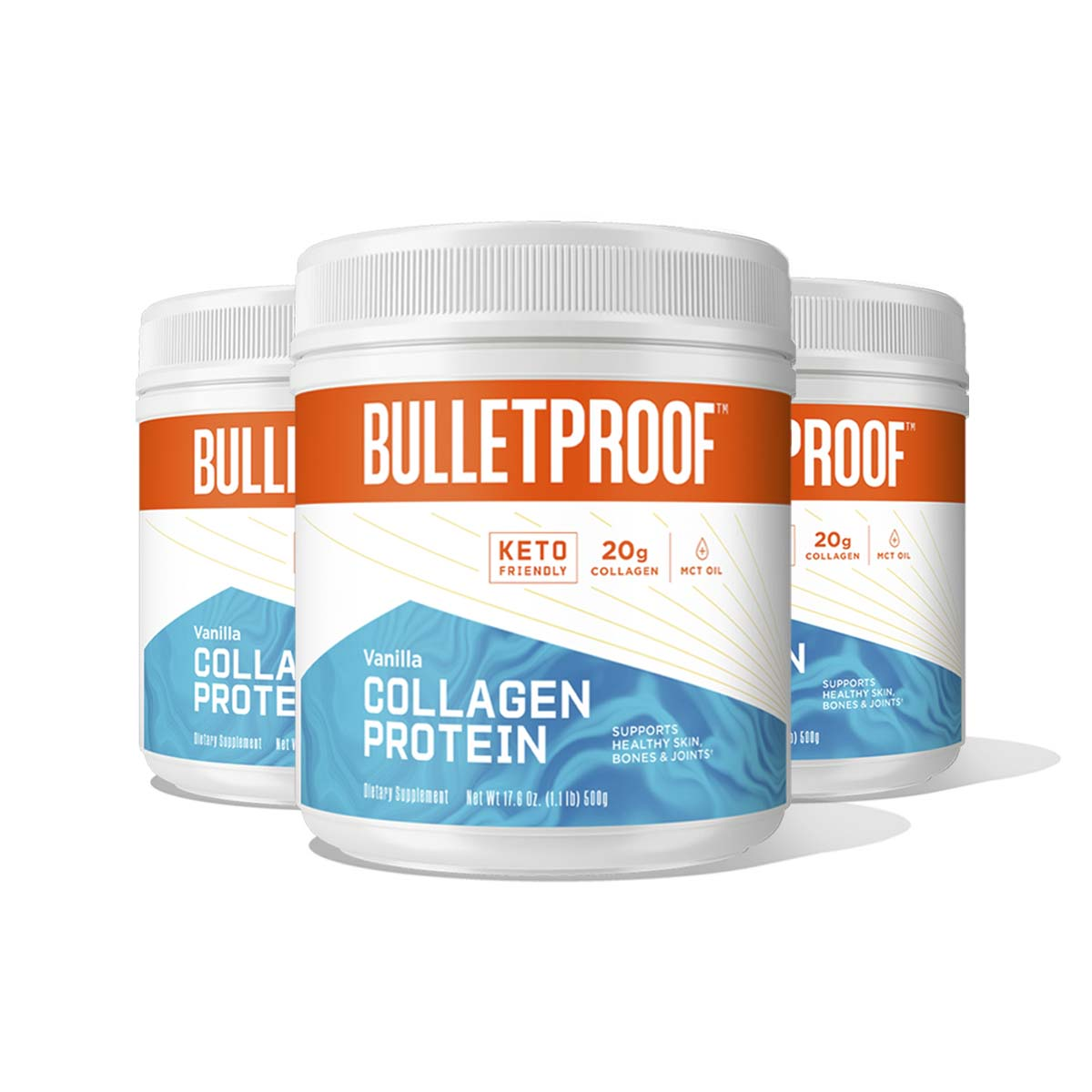 Bulletproof Vanilla Flavored Collagen Protein - 3 Pack